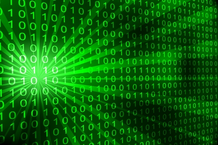 Abstract binary code 3D background. Vector