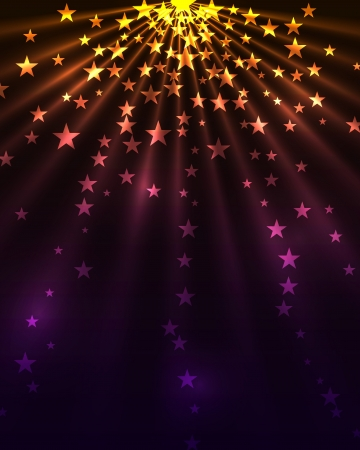 noche estrellada: Estrellas ráfaga de fondo vertical.