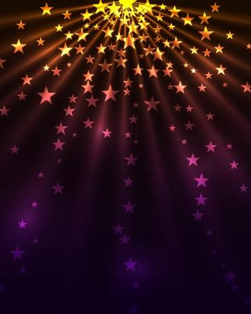 light burst: Sterne platzen vertikale Hintergrund. Illustration