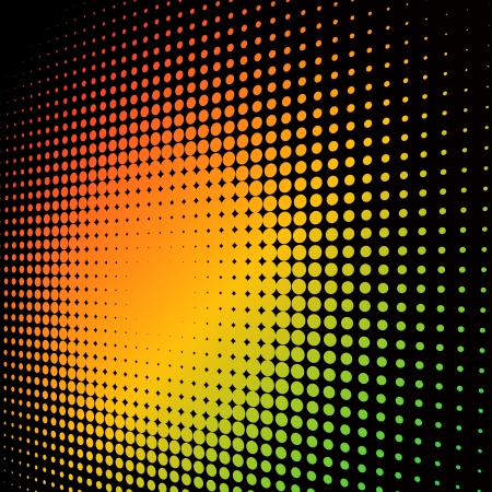 Abstract colorful halftone background with copy space. Vector