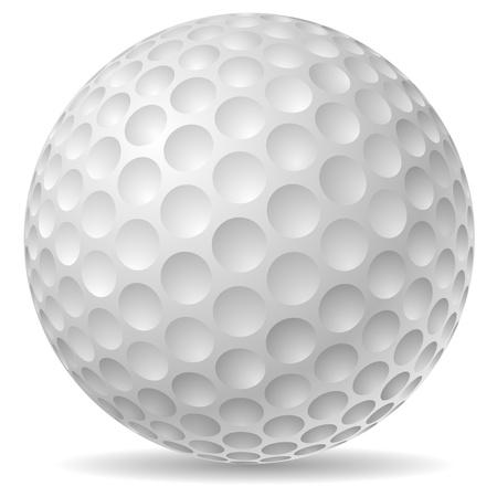 pelota de golf: Tradicional ilustración pelota de golf Vectores