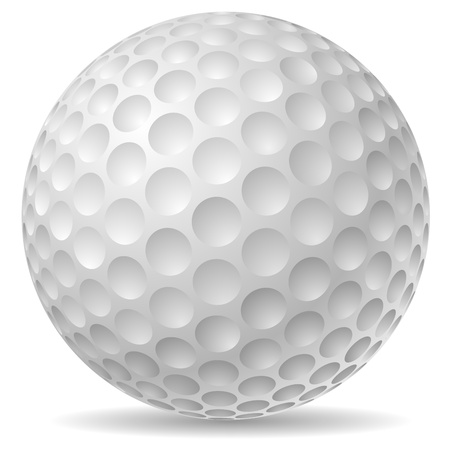 3d ball: Traditional golf ball illustration  Illustration