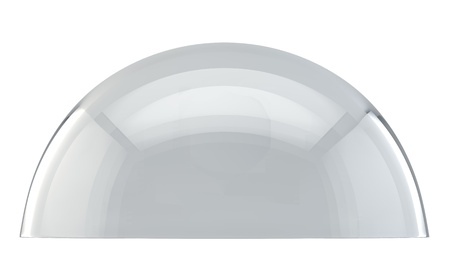 Glass dome side view isolated on white background  Imagens