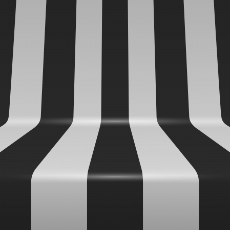 Black and white bent vertical stripes background  Vector