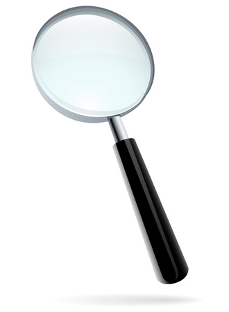 Magnifying glass vector illustration isolated on white  Stock Vector - 19975724
