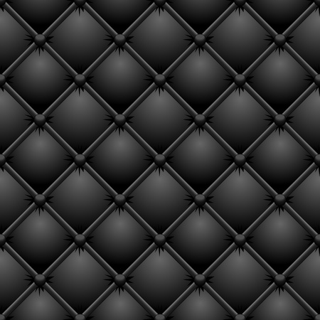 Buttoned black leather texture   Vector