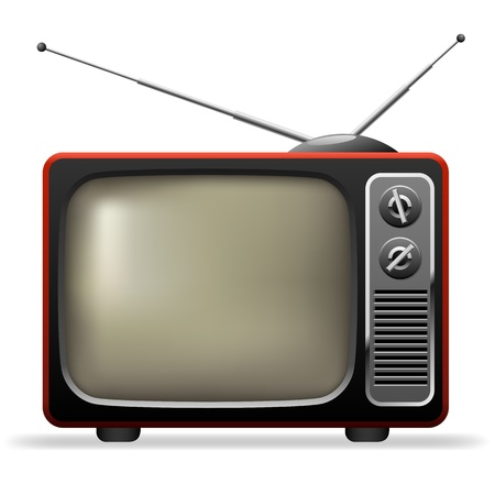 Retro TV set realistic illustration  Stock Vector - 19975722