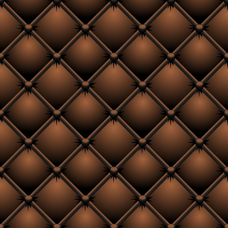 Buttoned brown leather vector texture