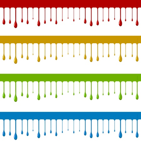 Peinture de couleur vers le bas modèle de vecteur de flux isolé sur fond blanc Pas d'effets ou de dégradés Banque d'images - 21216091