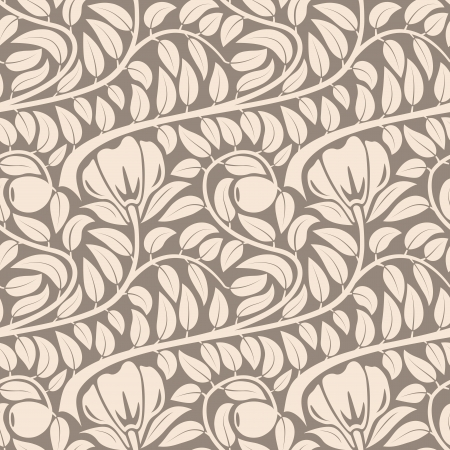 Seamless dark lght beige floral vintage vector pattern  向量圖像