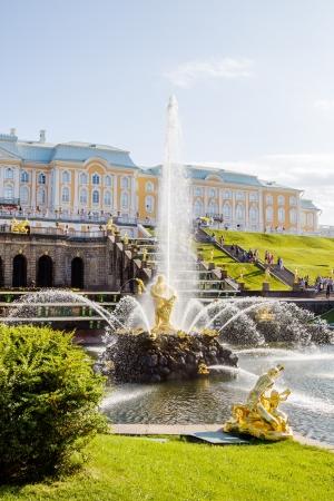 Samson fountain in Peterhof lower park in Saint-Petersburg, Russia  Stock Photo - 21578112