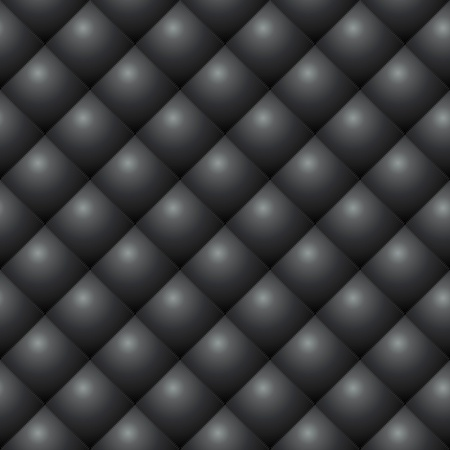 Seamless black diamond stitched leather vector texture  Vector
