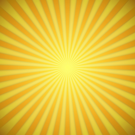 rayos de sol: Sunburst vector de fondo brillante amarillo y naranja con efecto de sombra
