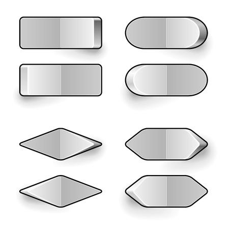 kippschalter: Blank wei� Kippschalter Vektor-Vorlage