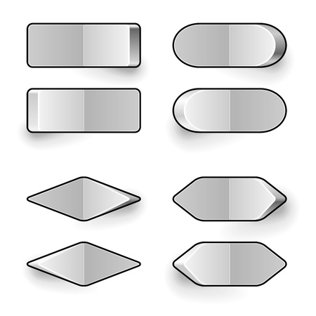 power switch: Blank white toggle switch vector template