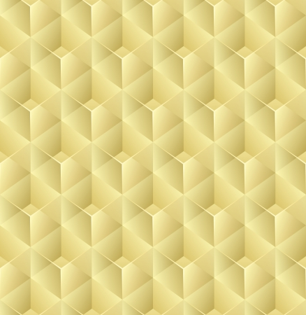 Seamless 3D yellow glass cubes vector pattern  Vector