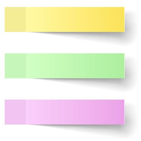 シャドウの色付箋ベクター テンプレート  イラスト・ベクター素材