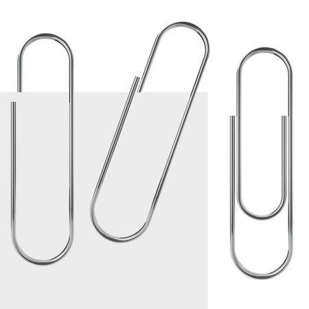 金属クリップ テンプレート サンプルと白い背景で隔離