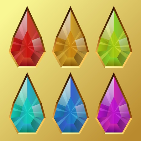 Color water drop shaped gem vector illustration  Stock Vector - 22569554