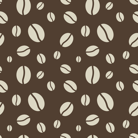 Seamless abstract brown coffee beans pattern Stock Vector - 22569645