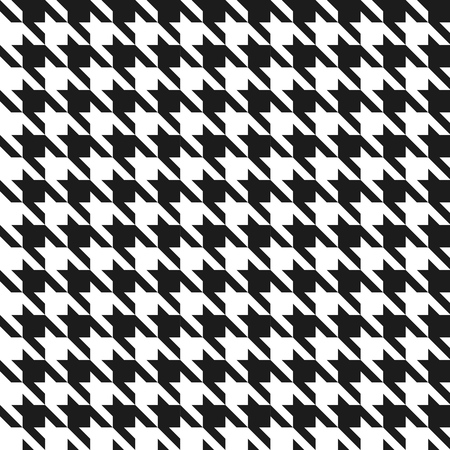 Seamless black and white houndstooth vector pattern  Illustration