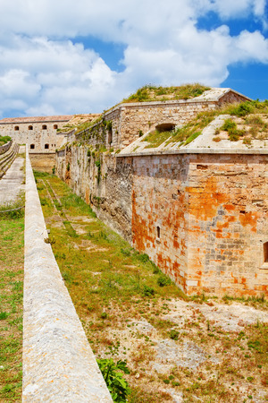 port isabel: La Mola Fortress of Isabel II at Menorca island, Spain  It was built between 1850 and 1875 at the mouth of Mahon port