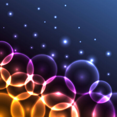 aureola: Abstract colorful glowing circles background