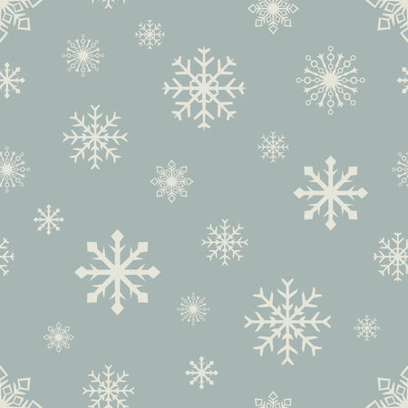 Abstract retro color seamless snowflake vector pattern  Vector
