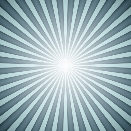 sunbeams: Sunburst grey and blue vector background with shadow effect