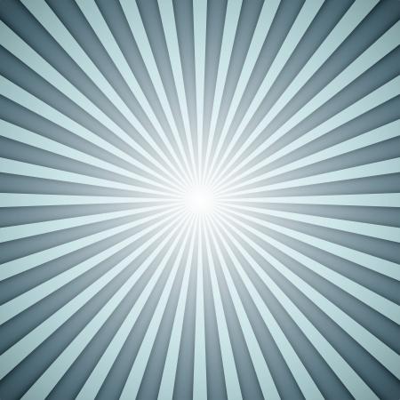 starbursts: Sunburst vector de fondo gris y azul con efecto de sombra