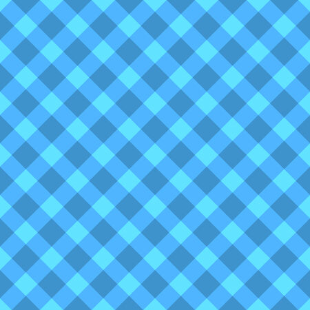 Blue and cyan checkered seamless cloth pattern  Easy to change color  Vector
