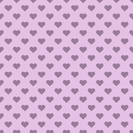 Pink heart shapes polka seamless vector  Vector
