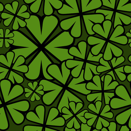 Seamless St  Patricks Day shamrock leaf  Vector