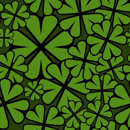 shamrock seamless: Seamless St  Patricks Day shamrock leaf
