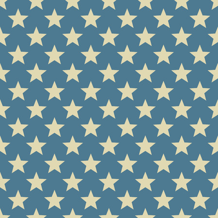 Vintage white and blue star vector pattern  Vector