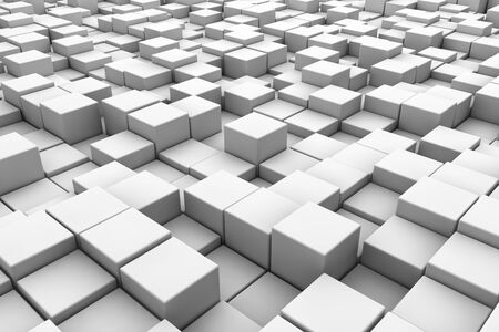 basic: Abstract 3D cubes horizontal background
