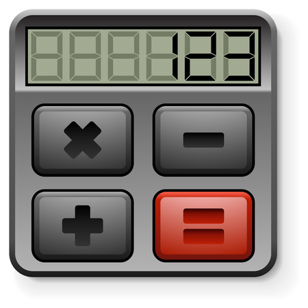 equal to: Abstract calculator icon isolated on white background