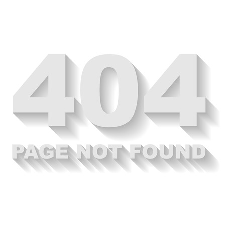 Page not found error vector template with white background  Vector