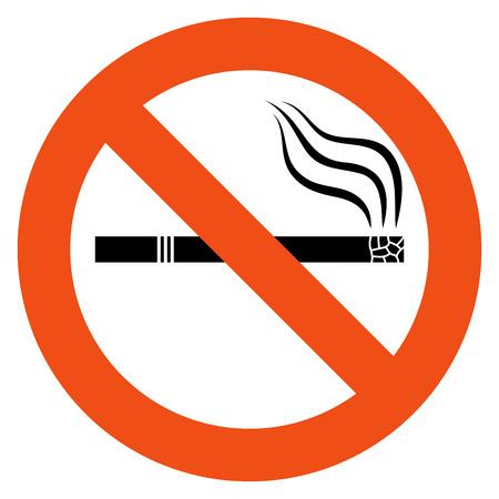 prohibido fumar: No hay señales de fumar vector aislado en el fondo blanco