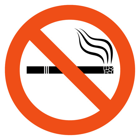 no smoking: No smoking vector sign isolated on white background  Illustration