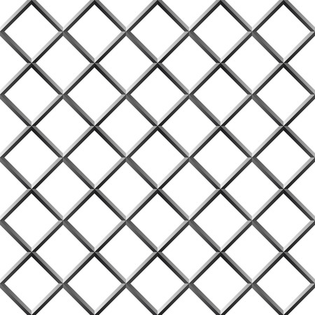metal grate: Seamless metal diamond shape grill isolated on white