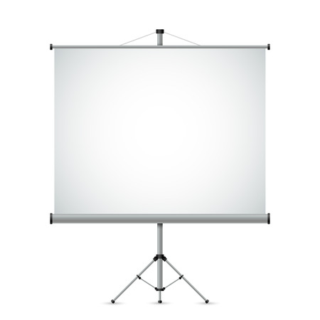 projection screen: Blank white projection screen vector template