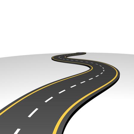 curvas: Resumen carretera va al horizonte con el espacio blanco de la copia Vectores