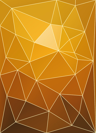 Sunset color triangular patchwork abstract vector background  Vector