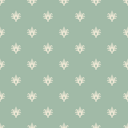 pale green: Seamless pale green and beige vintage wallpaper pattern
