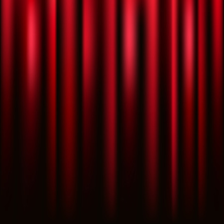 Red velvet curtain vector square texture. Vector