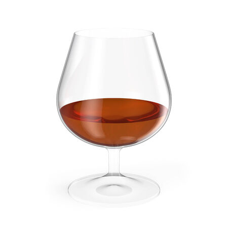 cognac: Cognac glass isolated on white background.