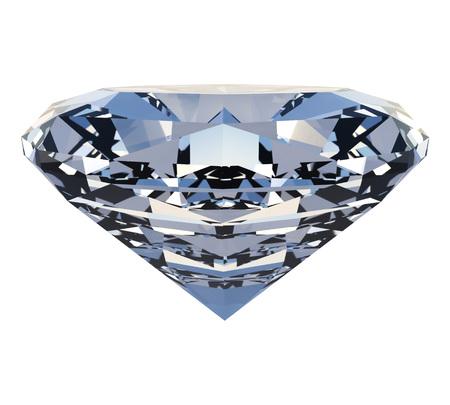 Polished diamond isolated on white background.