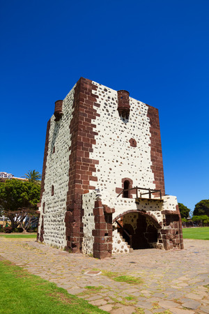 conde: Torre del Conde Tower in sunny day at La Gomera island, Canary islands, Spain. It was built in 1450.