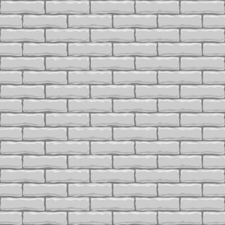 Seamless white brick vector square texture. Vector